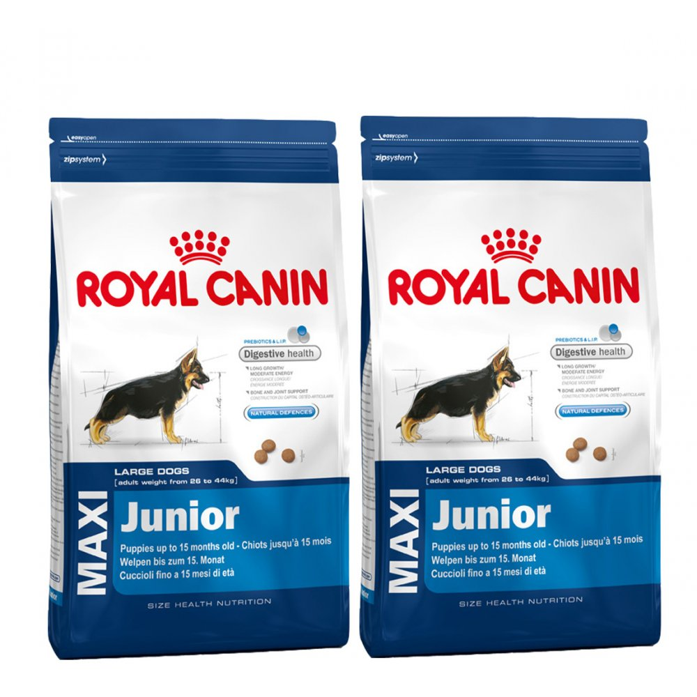 royal canin maxi junior complete dog food 2x15kg feedem. Black Bedroom Furniture Sets. Home Design Ideas