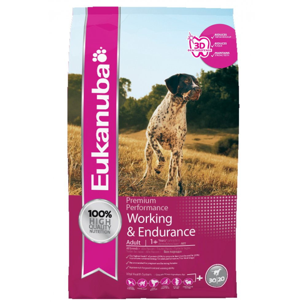 Eukanuba Puppy Food >> Buy Eukanuba Performance Dry Dog Food Working & Endurance 15kg Vat Free