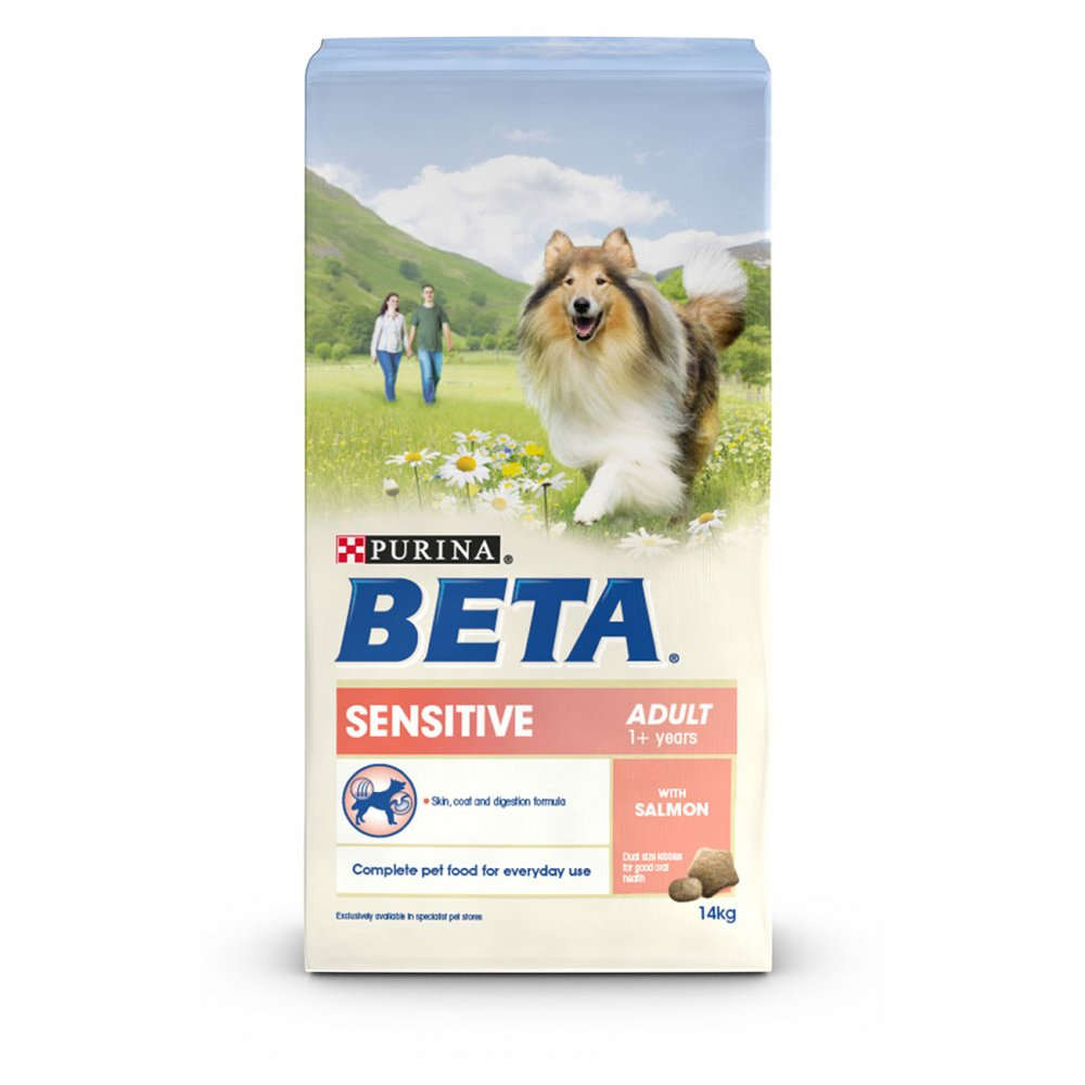 purina beta sensitive adult dog food salmon rice 14kg. Black Bedroom Furniture Sets. Home Design Ideas
