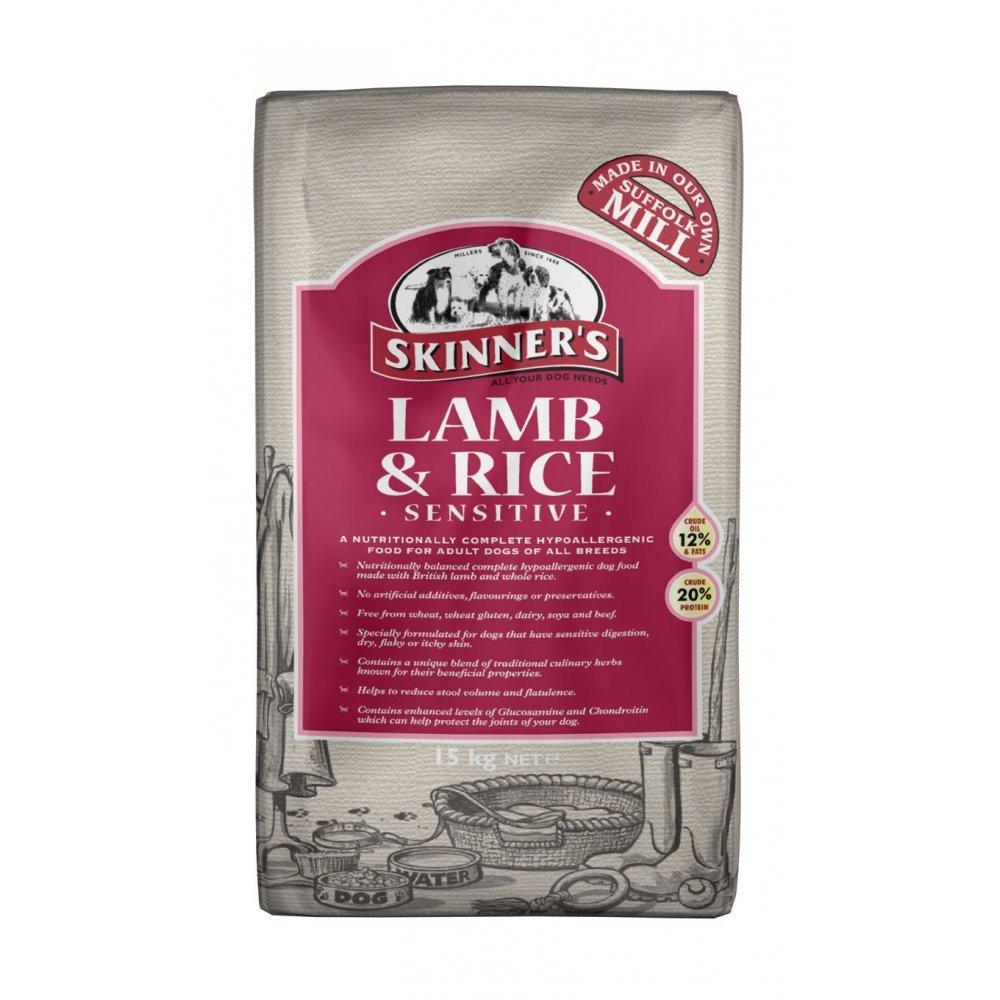 Skinners Sensitive Adult Dog Food Lamb & Rice 15kg | Feedem