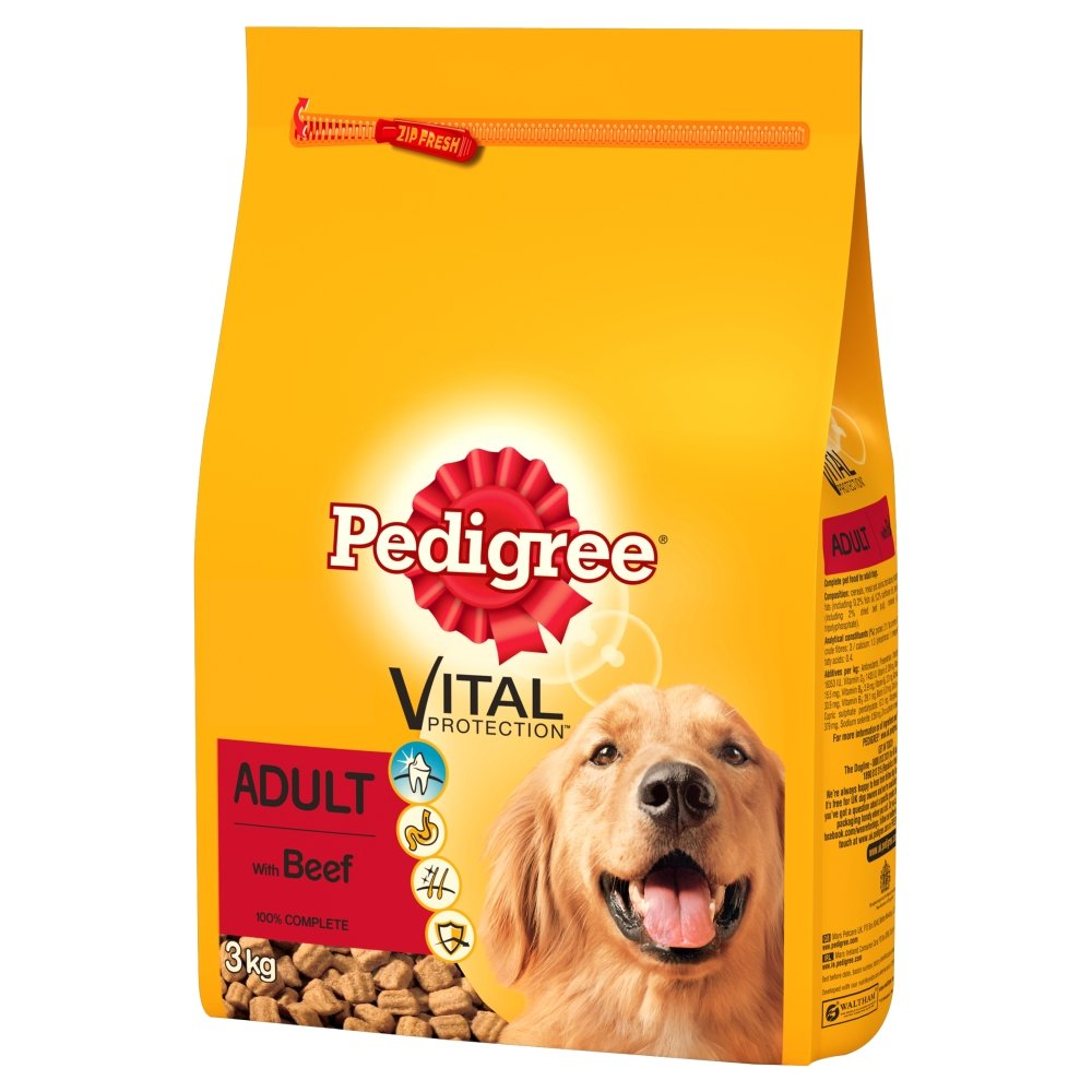pedigree dog food Prepared pet food offer guaranteed nutrition, palatability, digestibility and safety over table scraps and home cooked food.