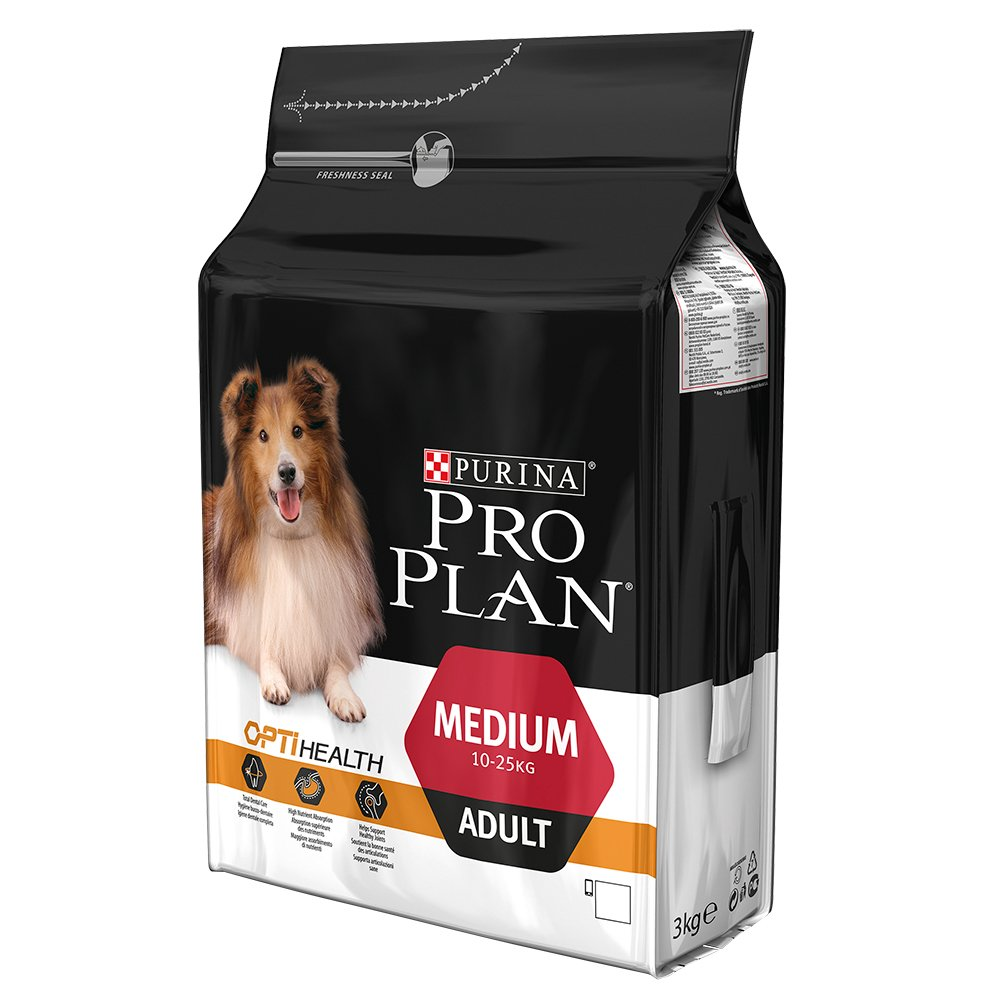 pro plan medium adult dog with optihealth in chicken 3kg feedem. Black Bedroom Furniture Sets. Home Design Ideas