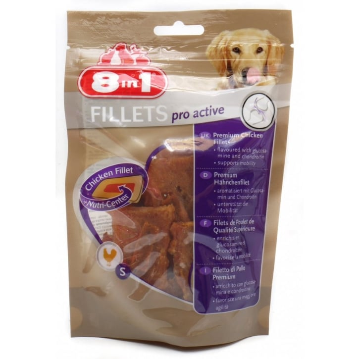 8 in 1 Chicken Fillets Pro Active Dog Treat Small