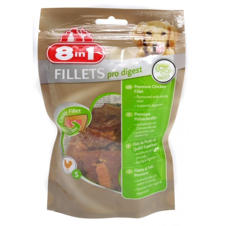 8 in 1 Chicken Fillets Pro Digest Dog Treat Small