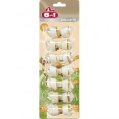 Delights Rawhide Dog Chew Bone Xsmall 7pack