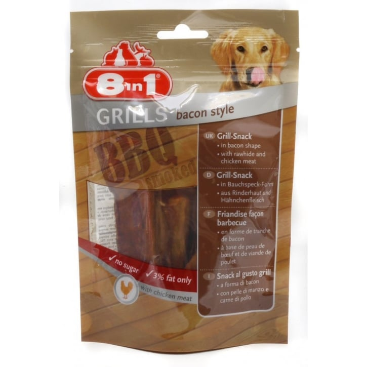 8 in 1 Grills Bacon Style Dog Treat 80gm