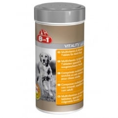 8 in 1 Multi Vitamin & Mineral Tablets for Adult Dogs - 70 Tabs