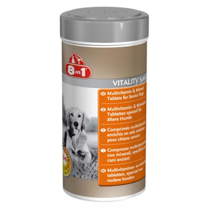 8 in 1 Multi Vitamin & Mineral Tablets for Senior Dogs 70tabs