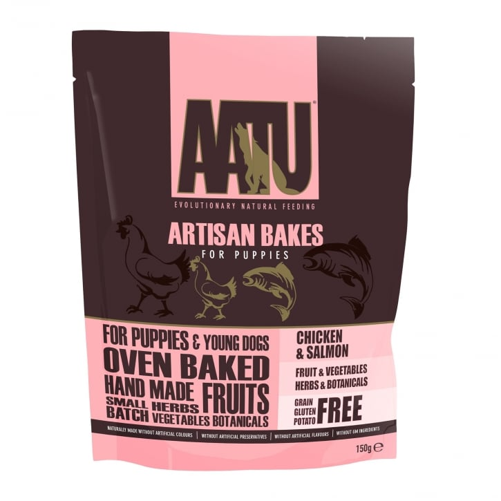 Aatu Artisan Bakes Chicken & Salmon Puppy Dog Treats 150g