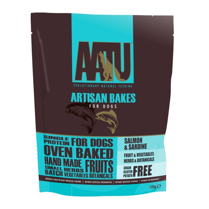 Aatu Artisan Bakes Salmon & Sardine Dog Treats 150g