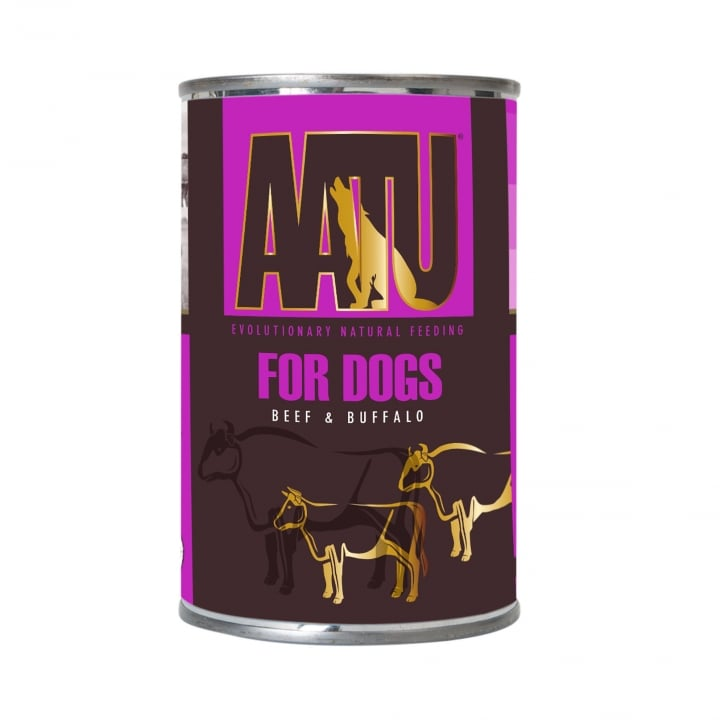 Aatu For Dogs Beef & Buffalo Adult Wet Dog Food 6 x 400g