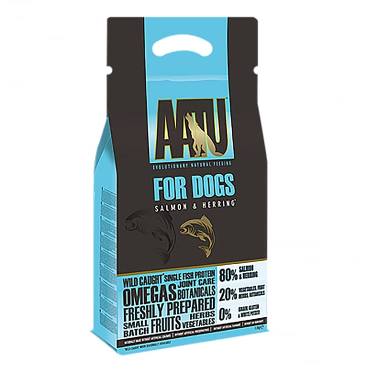 Aatu Salmon & Herring 80/20 Adult Dog Food 1.5kg