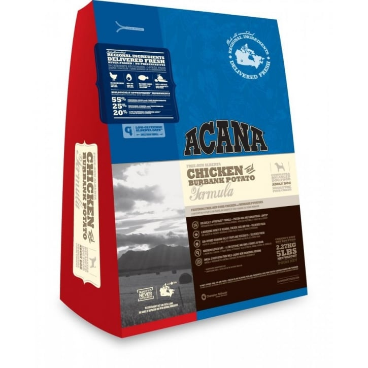 Acana All Breed & Life Stages Dog Food Chicken & Burbank Potato 13kg