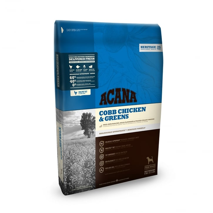 Acana Heritage Cob Chicken & Greens Adult Dog Food 11.4kg