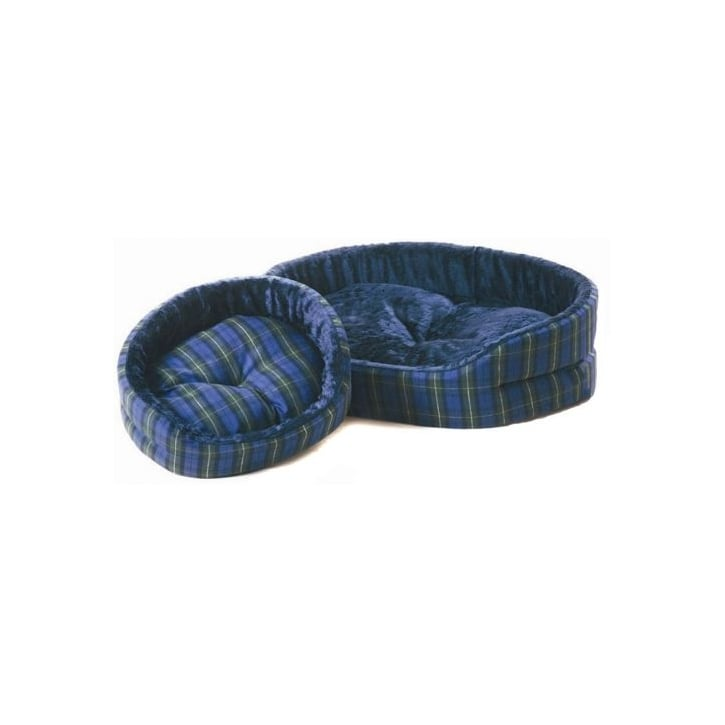 Cosipet Cosipet Tartan Superbed Oval Dog Bed Blue 34