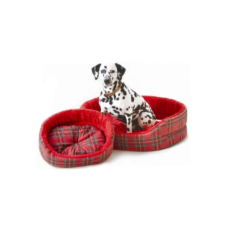 Cosipet Cosipet Tartan Superbed Oval Dog Bed Red 30