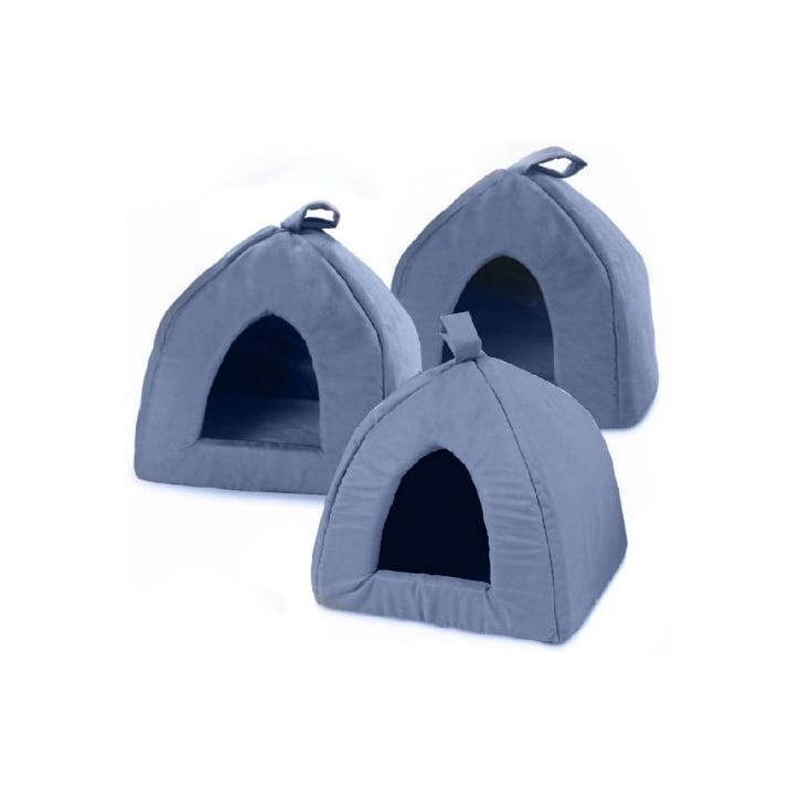 Cosipet Igloo Faux Suede Cat/Dog Bed Blue 16