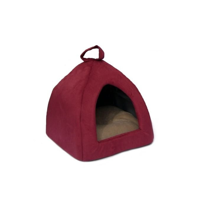Cosipet Igloo Faux Suede Cat/Dog Bed Wine 16