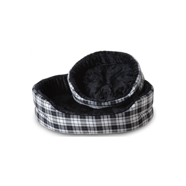 Cosipet Superbed Tartan Black & White 18
