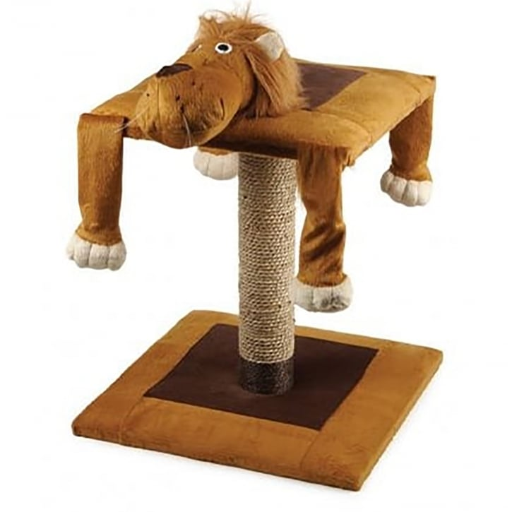 Ancol Acticat Lazy Scratch Post Lion 56cm