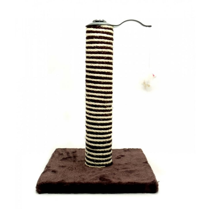 Ancol Acticat Premo Deluxe Cat Scratcher Post Chocolate