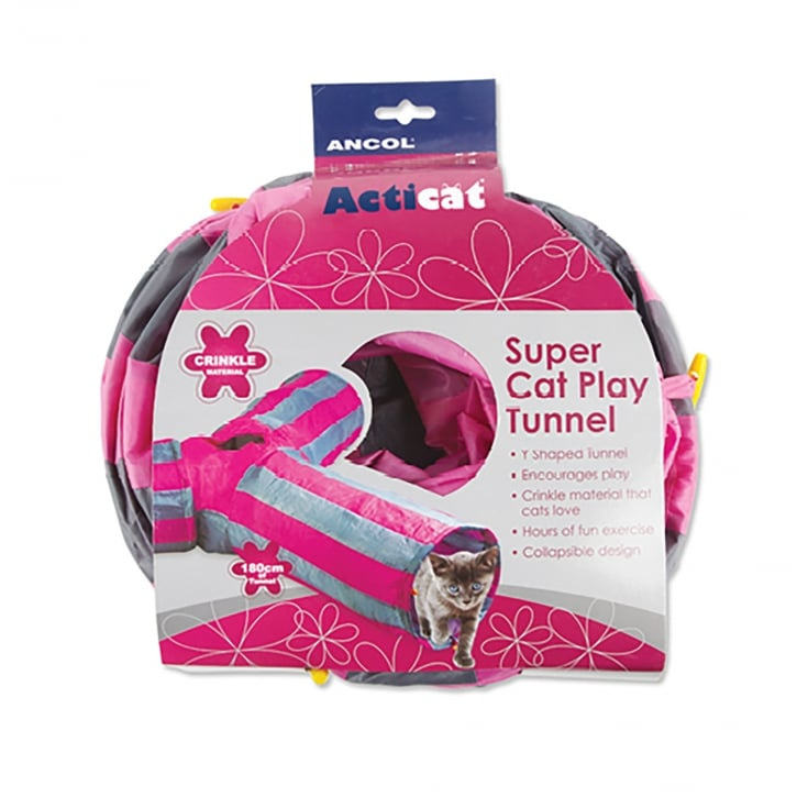 Ancol Acticat Y-shaped Cat Play Tunnel 180cm