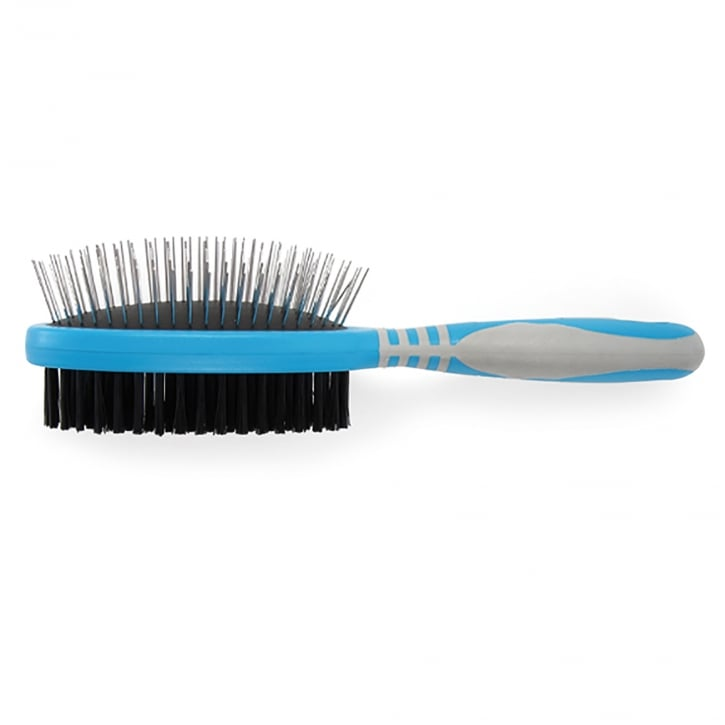 Ancol Ergo Dog Grooming Double Sided Pin & Bristle Brush