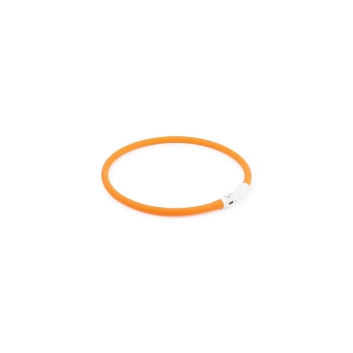Ancol Flashing Rechargeable Safety Halo Dog Band Orange