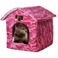 Ancol Just 4 Pets House Bed For Cat, Small Dog, Rabbit Combat Pink