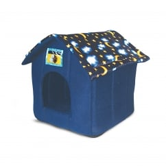 Just 4 Pets House Bed For Cat, Small Dog, Rabbit Moon & Stars