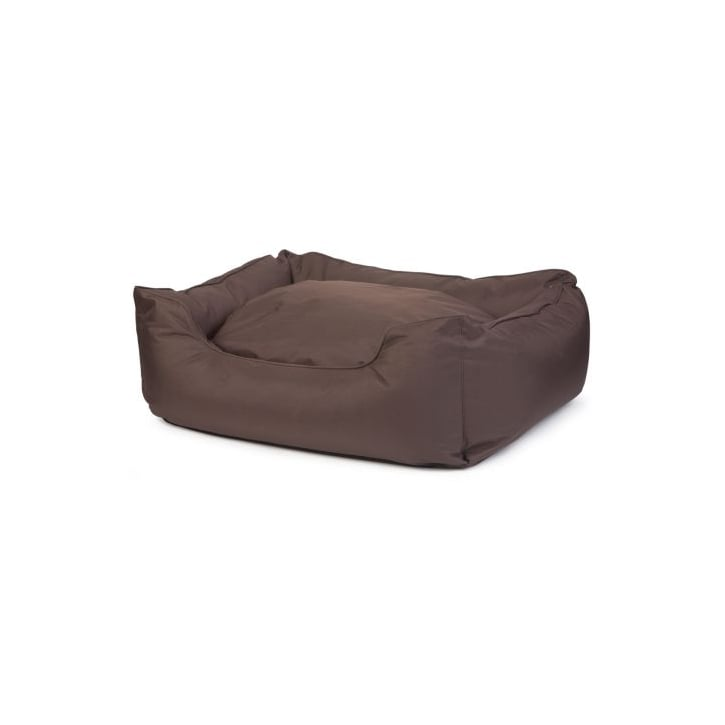 Ancol Large Brown Waterproof Domino Dog Bed - 78cmx90cm