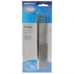 Ancol Metal Comb For Dogs And Cats - Medium/coarse - 7""