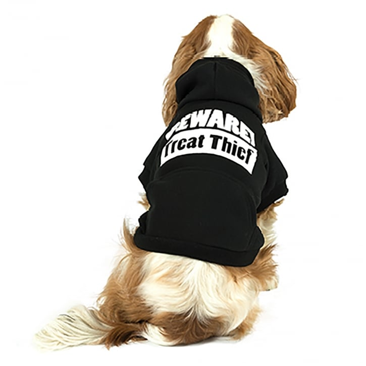 Ancol Muddy Paws Black Treat Thief Hoodie X-Small