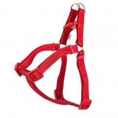 Nylon Dog Padded Harness - Small - Red