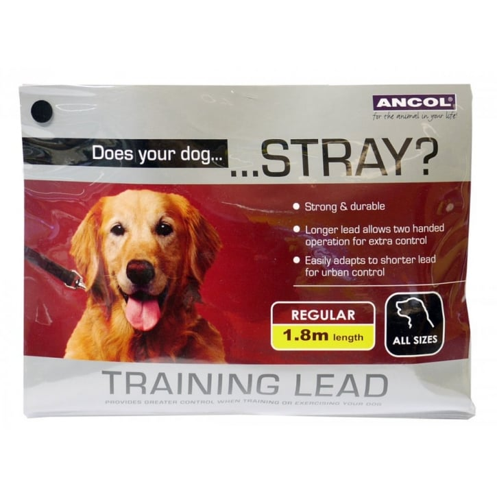 Ancol Nylon Training Lead For Dogs - 15mm x 180cm.