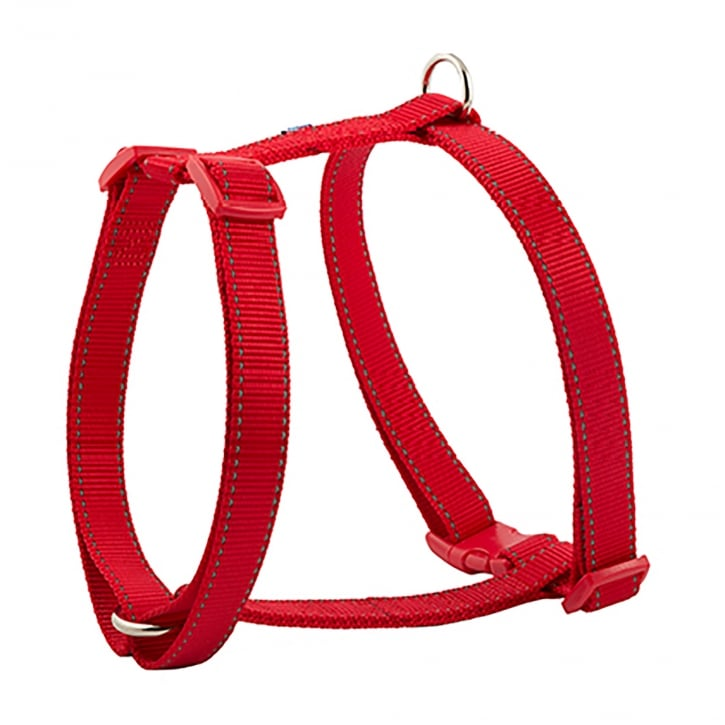 Ancol Padded Nylon Dog Harness - Large - Red
