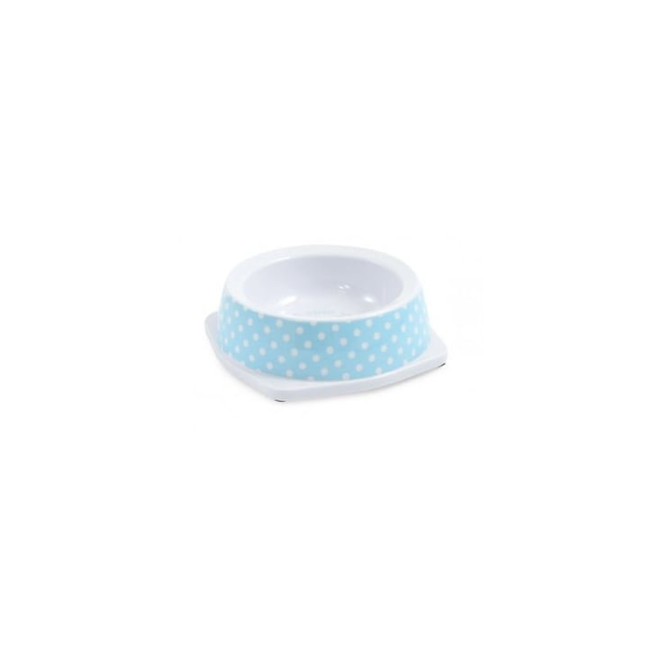 Ancol Polka Dot Melamine Pet Bowl Blue Extra Small