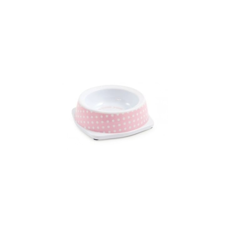 Ancol Polka Dot Melamine Pet Bowl Pink Extra Small