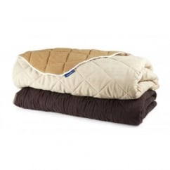 Ancol Sleepy Paws Quilted Chair Guard Luxury Pet Throw Medium Brown