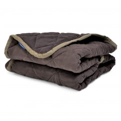 Sleepy Paws Quilted Chair Guard Luxury Pet Throw Medium Brown