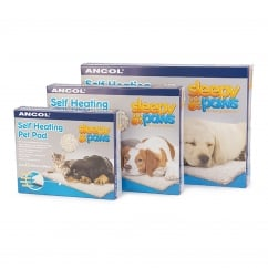 Soft Faux Fur Self Heating Pad For Dogs & Cats - Small