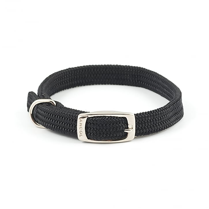 Ancol Softweave Nylon Dog Collar Black 14