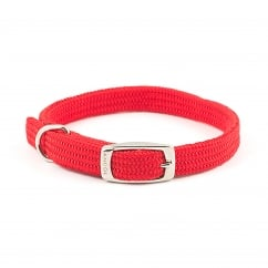 Softweave Nylon Dog Collar Red 14