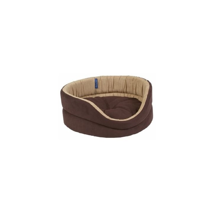 Ancol Timberwolf Faux Suede Oval Dog Bed 40cm