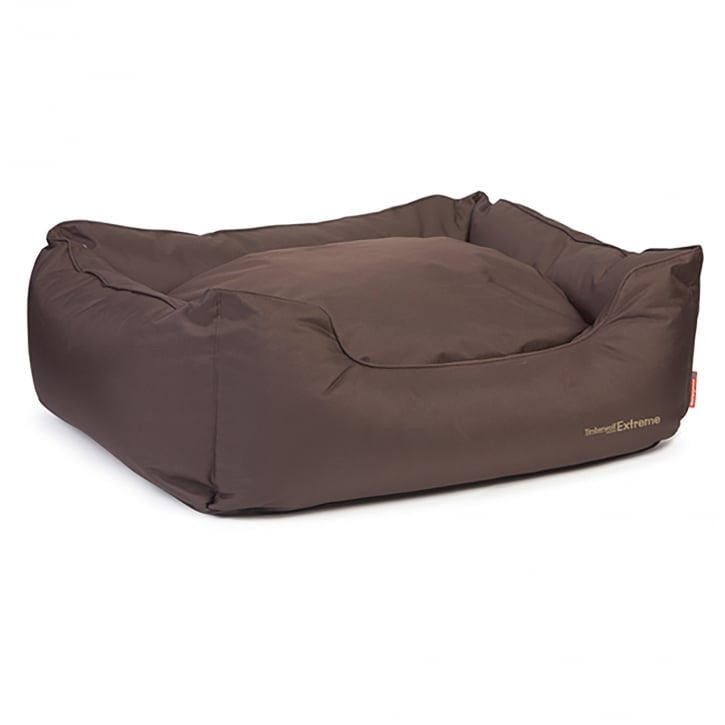 Ancol Timberwolf Waterproof Domino Dog Bed Large -78cm X 90cm Brown