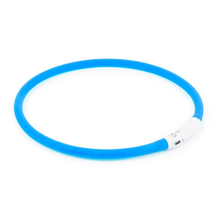 Ancol USB Rechargeable Dog Safety Flashing Band Blue