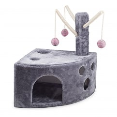 Wedgy Acticat Activity Cat Play Centre - Grey/Pink