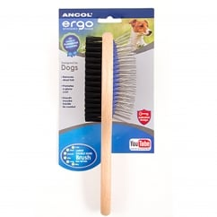 Wood Handle Double Sided Grooming Brush Large