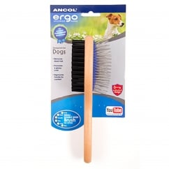Wooden Handle Double Sided Brush For Cats And Dogs