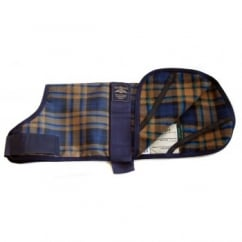 Animate Camel Watch Tartan Fur Lined Waterproof Dog Coat